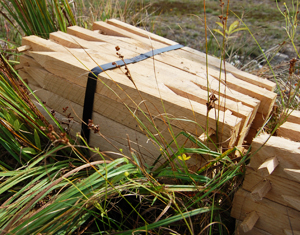 Förankringsfäste träspik till Veg Techs strandmatta